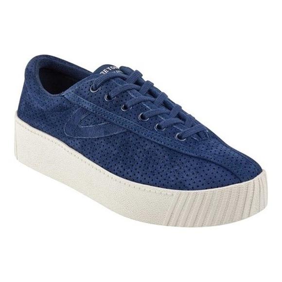 Tretorn Nylite Bold Sneaker Blue Suede